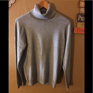 Calvin Klein grey sweater, med ,turtleneck